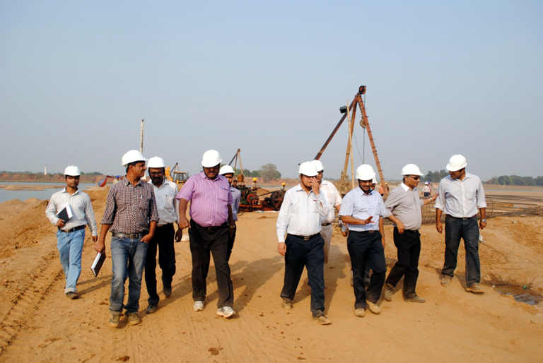 Members of RVNL Visit the Bramhani Bridge Construction Site
