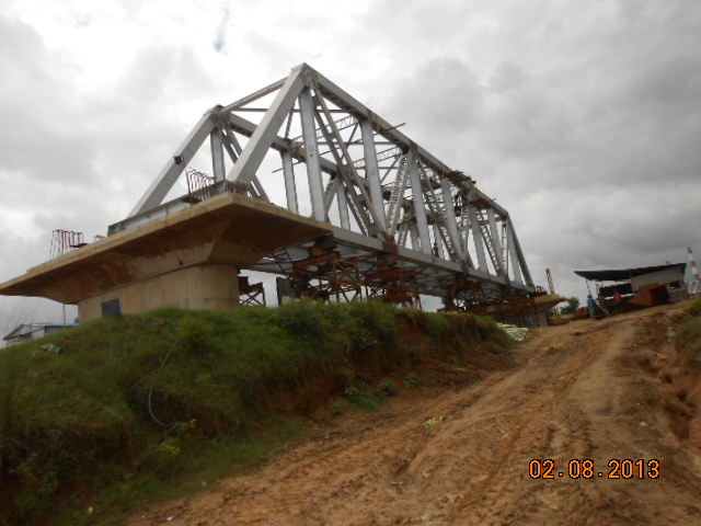 P2 To P1 Girder Erection Completed as on 18 January 2014