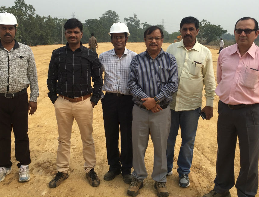 Visit of Sri D.K. Samantray, MD/ASRL along with Sri S.K.Patra, CPM/III/RVNL/BBS inspected the work-in-progress of Angul-Sukinda new rail-line on dt 16.11.2015. MD made review of the progress to expedite the works. It is expected that after the harvesting period, the work-speed will pick up the pace