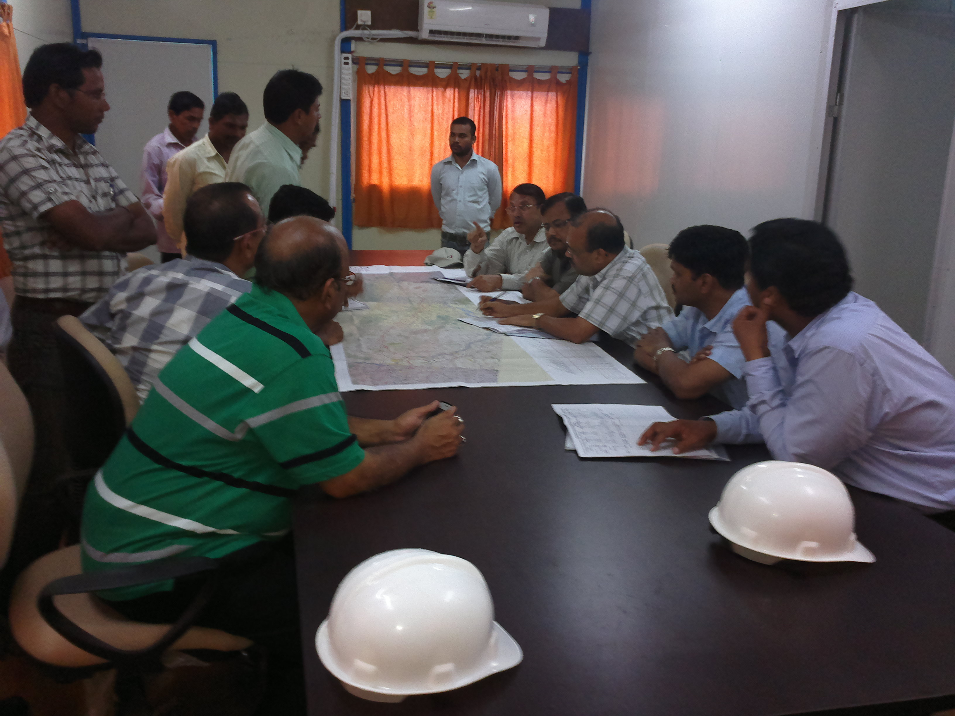 2. Visit of MD/ASRL with Commissioner Rail Co-ordination/Govt of Odisha and CPM-III, RVNL to Anghul-Sukinda Rail Line site. They held a meeting with Dr A. Padhi, IAS, RDC and Sri A. Agarwal, IAS on 18 Aug 2012