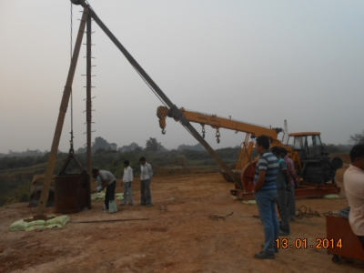 1st Pile at BR12 of A2 Location Work in Progress