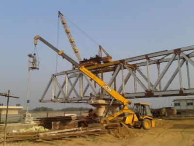 Erection of Girder BR-12 as on 18 January 2014