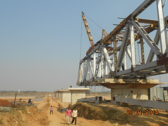 P4 To P5 Erection Work as on 18 January 2014