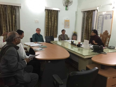 Sri D.K.Samantray, MD/ASRL meeting with Mrs Roopa Roshan, IAS, Collector , Dhenkanal on Land Acquisition for Angul-Sukinda new rail-line project