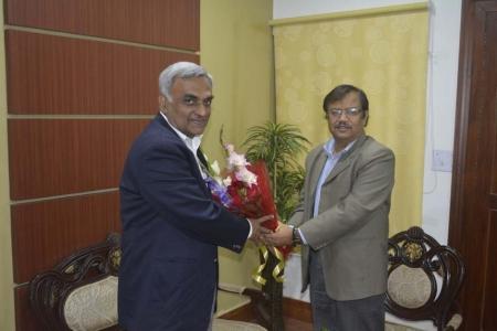 Mr J.N.Jha, CCM, South Eastern Railway, Kolkata called on Managing Director, ASRL