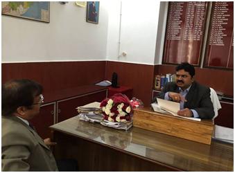 Sri D.K.Samantray, MD/ASRL meeting Sri C.J.Venugopal, IAS Principal Secretary to Govt., Home Department, Govt. of Odisha on 20.12.14.