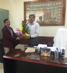 D.K. Samantray, MD/ASRL called on Sri AP Padhi, IAS on his assuming the  charge of Chief Secretary, Odisha on Dec 01, 2015