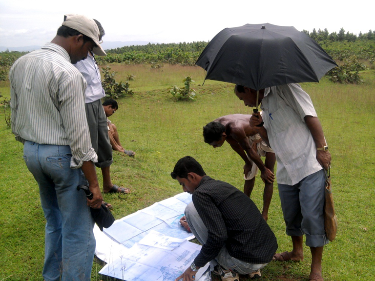 ASRL Field Inspection Team Analyzing the Map for Government Land